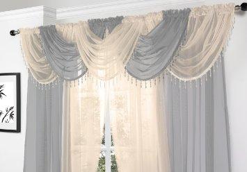 Tenda con mantovana arredamento e casa for Tende classiche con mantovana