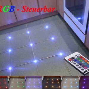 28X PIASTRELLE RGB LED Controllo Bar fughe 5mm luce illuminazione da pavimento fughe piastrelle luce con incluso RGB Controller 1a 12V Trasformatore di deckenru