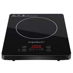 Aigostar Blackfire 30IAV  Fornello a induzione 2000W Pannello ultraslim in microcristallino