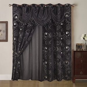 Best Interior Tenda Voile Mille Una NotteNeroDimensioni 280x 260cm