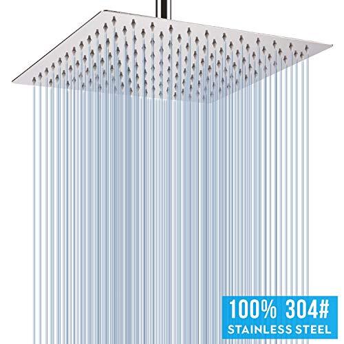 Soffione doccia pressione 16 pollice soffione per doccia a pioggia Anti calcare filtro ad acqua in acciaio inox risparmio acqua Soffione doccia quadrato