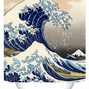 DAFENP Tende da Doccia Impermeabile AntiMuffa Resistente Tessuto 180 x 180 cm 8 Anelli per Tende Doccia per Vasca da Bagno style52