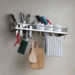 Eridanus Porta Utensili da Cucina Parete in Acciaio Inox Mensole Cucina da Muro Portacoltelli per Tenere Coltelli Spezie e Altri Utensili da Cucina