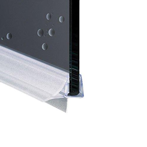 Guarnizione Box Doccia Profilo Orizzontale di Ricambio con Aletta Morbida Gocciolatoio  Vetro 6mm 8mm EC10604 100 cm
