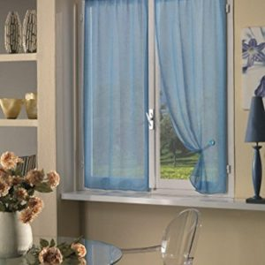 Home Collection TCBUC113150 Tendina Coppia Boucle Poliestere Soft Blu 70 x 150 cm 2 Unit