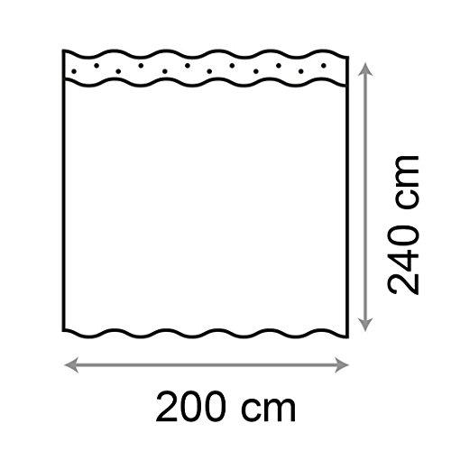 Huaforcity Tenda Doccia 200x240cm Larghezza X Altezza Grande Impermeabile Anti Muffa Poliestere Elegante Tenda Da Bagno Accessori Da Bagno Vasca Con