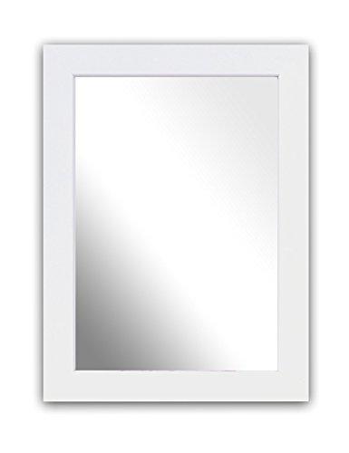Inov8 Specchio con Cornice in Legno Kayla Bianco White A4