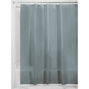 InterDesign 30 Liner Fodera per tenda doccia Grande tenda per vasca da bagno in PEVA antimuffa con 12 occhielli di 1830 cm x 1830 cm Grigio fumo