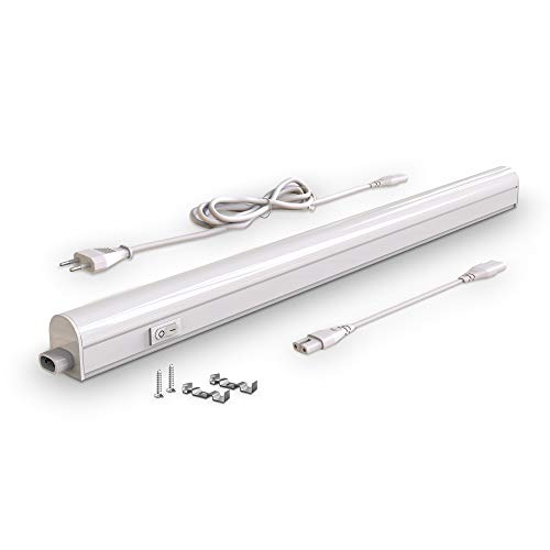 Lampada sottopensile cucina LED, luce bianca naturale 4000K, LED integrati  da 8W, lunghezza 57.3cm, interruttore on off, plastica, lampada moderna ...