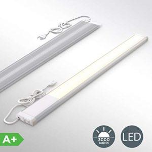 Lampada sottopensile cucina LED luce calda 3000K LED integrati da 10W lunghezza 575cm 1110 Lm interruttore on off plastica e metallo lampada moderna per vetrinetta 230V IP20