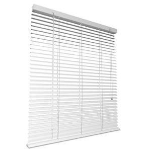 Levivo Veneziane di Alluminio Colore Bianco Wei da 90 x 130 cm