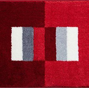 Linea Due CAPRICIO Tappeto per Il Bagno Poliacrilico Supersoft Rubino 60x100 cm