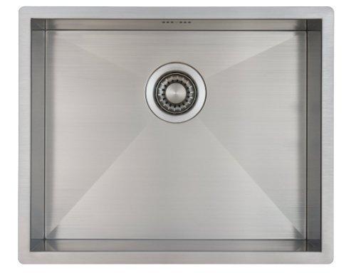 Mizzo Quadro 5040 Lavello Cucina 1 Vasca in Acciaio Inox Spazzolato  Installazione Filotop o Sottotop  544 x 444 mm  Raggio Interno da 0 mm  Spessore acciaio 12mm  Soddisfazione Garantita
