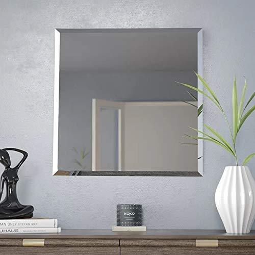 Specchio Bagno 60 X 60.Mx Home Specchio Da Parete Senza Cornice Rettangolare Con Bordi