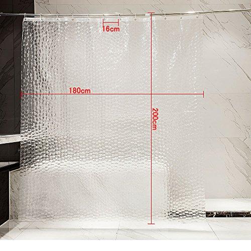 Vasca da bagno tenda da doccia anti muffa senza PVC /& ecologico tenda 180 x 200 cm Vasca tenda bianco Bianco Tenda della doccia PEVA