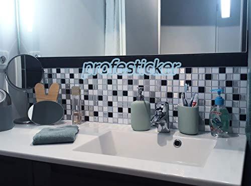 Profesticker Piastrelle Adesivi Muro 3D Mattonelle Sticker Auto-Adesivo  Decorativo Gel Rivestimento Parete Confine Impermeabile Cucina Bagno ...