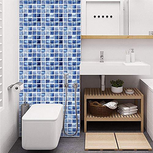 Set di 12 pezzi adesivi piastrelle 3D Vintage blu adesivo parete cucina  20x20cm, adesivi impermeabili fai da te piastrelle cucina e bagno, adesivi  ...