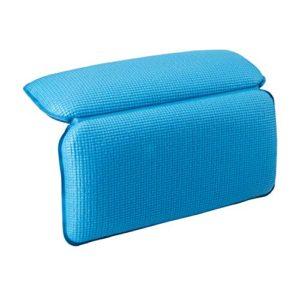 TANBURO Cuscino da bagno Vasca da bagno CuscinoMorbido confortevole antiscivolo 7 grandi ventose colore blu