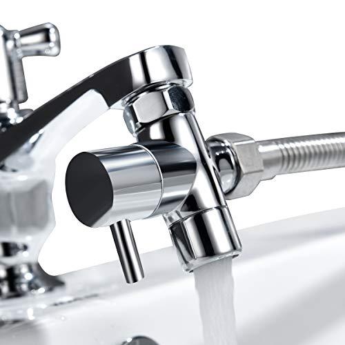 Tecmolog G12 Deviatore ottone per il rubinetto della cucinabagno lavandino o lavandino rubinetto del bagno del rubinetto parte di ricambioM22xM24 ChromeSBA021C