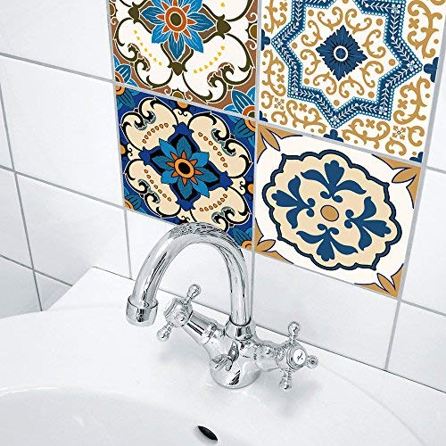 Topmail 24 Pezzi Adesivi per Piastrelle Wall Stickers da ...