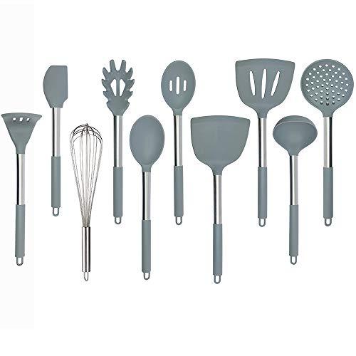 set da 10 Bblie utensili da cucina in acciaio INOX