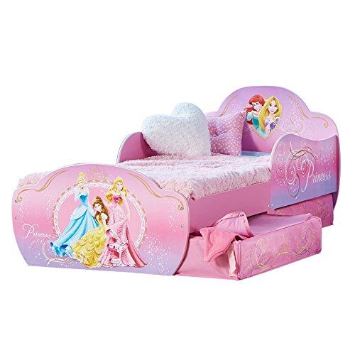 Worlds Apart Principesse Disney  Lettino per Bambini con Contenitore Sottoletto