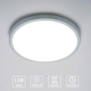 Yafido LED Plafoniera 18W Ultra magro UFO Pannello LED Rotondo Bianco Freddo 6500K 1620LM Lampada da Soffitto per Soggiorno Camera da letto Bagno Cucina Corridoio e Balcone 18cm