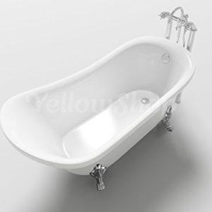 Yellowshop  Vasca Vasche Da Bagno con piedini Freestanding Modello Impero Free Standing Design Centro Stanza Vintage Retr Dimesione Cm 160x72 Altezza 75