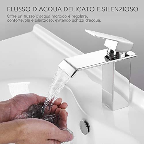 HomeLava Rubinetto per lavabo Rubinetto per cascata ottone antico