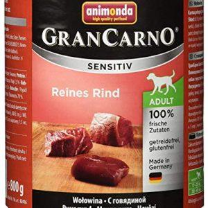 Animonda Gran Carno Cibo per Cani Sensitive Adult Puro Rind Confezione da Pezzi